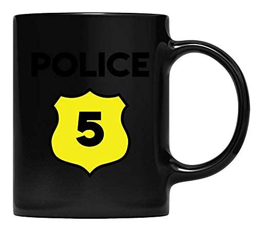 N\A Taza de la Taza del Quinto cumpleaos del Disfraz de la polica para nios - Quinto Cinco aos