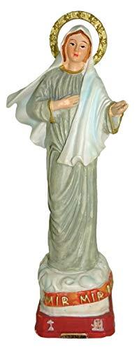 Ferrari & Arrighetti Estatua Virgen de Medjugorje de 12 cm con Caja de Regalo y marcapáginas