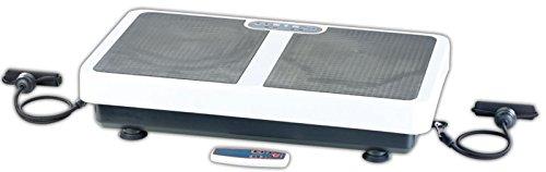 PEARL Massageplatte: Extrabreite Vibrationsplatte WBV-199.OE mit Expandern, 200 Watt (3D Vibrationsplatte)