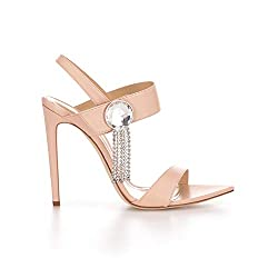 Shell Tori Sandal With Swishy Swarovski Crystal & Heels