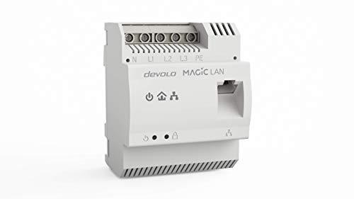Devolo Magic 2 LAN DINrail: adattatore guida DIN Powerline per distribuire Internet in casa su linea elettrica, ADSL da quadro elettrico, tecn. G.hn