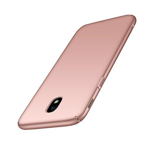 Bakicey Samsung Galaxy J5 2017 Hülle, Handyhülle für Samsung J530 Komplettschutz Schutzhülle Dünn Hart Schrubben PC Schutz Tasche Schale rutschfest Hülle Case für Samsung Galaxy J5 2017 (Roségold)