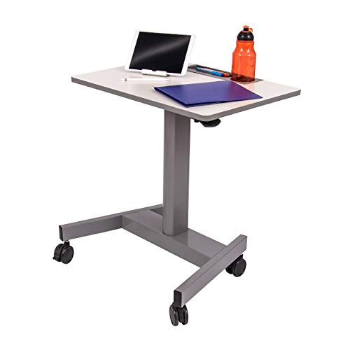 Stand Up Desk Store Pneumatic Adjustable Height Rolling Student Classroom Standing Desk -Gray