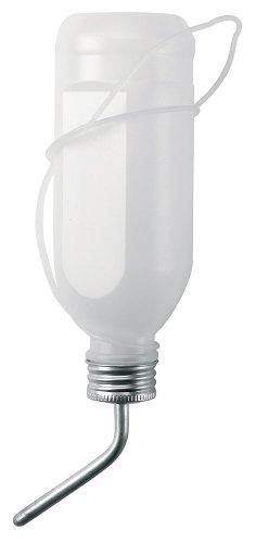Kerbl 74120 Trinkflasche für Kaninchen, 500 ml Kunststoff mit Aluröhrchen