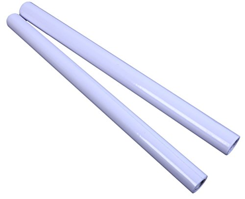 Juvale White Board Paper - 2-Pack Peel and Stick Dry Erase Sheets, Self-Adhesive Whiteboard Rolls for Home, School, and Office, White, Large and Medium