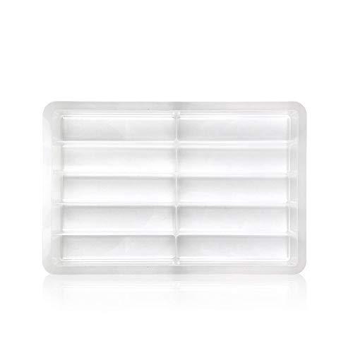 Sortierbox groß als Ordnungsystem und Aufbewahrungsbox stapelbar für Nageldesign Gel Tiegel, Farbgel, Gellack, Nailart in transparent aus Plastik Lyninails