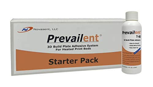 Prevailent T-80 Starter Pack - 3D Printer Adhesive, Helps Prevent Warping. 3D Glue Provides Strong Hold and Easy Release with ABS, PLA, TPU, and PETG on Heated Beds, 4 fl. oz, 118 ml