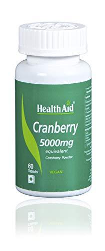 Health Aid Cranberry 5000mg - Standardised, 60 tabletas