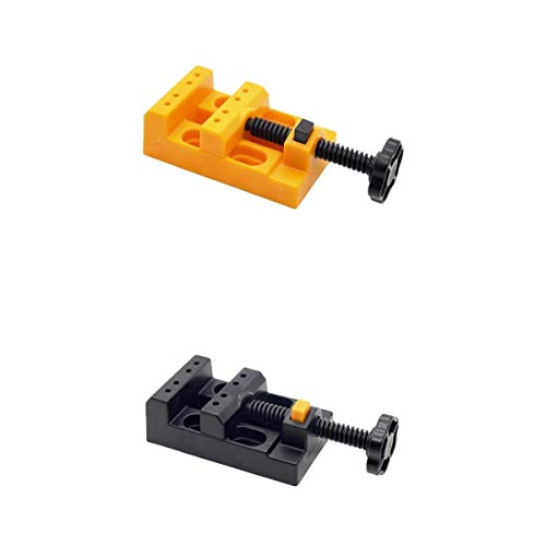 MagiDeal 2X Mini Vice Clamp Banco Vise Plástico Nogal Banco de Vice DIY Hobby Tool
