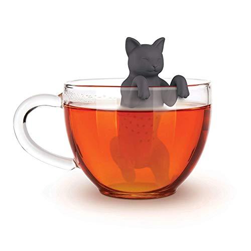 Alihoo Tee Infuser, 2-Stück Silikon teesieb teeei teefilter Tea Infuser teekugel, teefilter (2St.Katze)