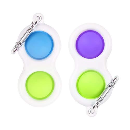 Tobheo Juguetes Sensoriales Antiestres, Mochila Colgante Llavero, Push Pop Bubble Sensory Toy para Niños Adultos Relajarse