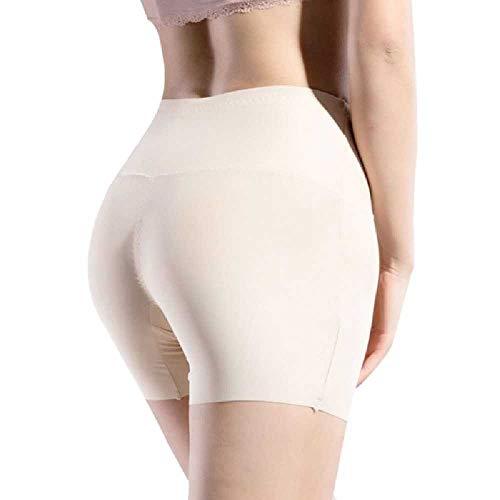NIUHAIQING Damen Seidensicherheitsshorts Mit Hoher Taille, Unsichtbar, Nahtloser Baumwollboxer, Kurze Unterwäsche, Einfarbiger Stretchboxer XL/Hautfarbe
