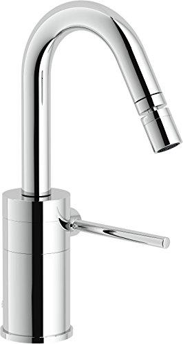 Nobili rubinetterie PL00119/1CR Plus Miscelatore Monocomando per Bidet, Scarico 1 1/4 Pollici, Bocca 30⁰, Cromo