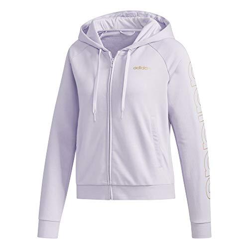 adidas W E Brand HD TT Sweatshirt, Damen M Zinn-violett/metallisch-Kupfer