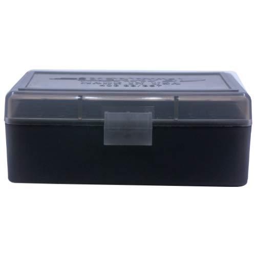 BERRY S Plastic Ammo Box, Smoke Black 50 Round 38 357 (5)
