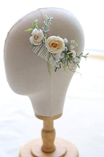 FIDDY898 Floral Crown Green Headpiece Bridal Accessories Wedding Crown (Head-comb)