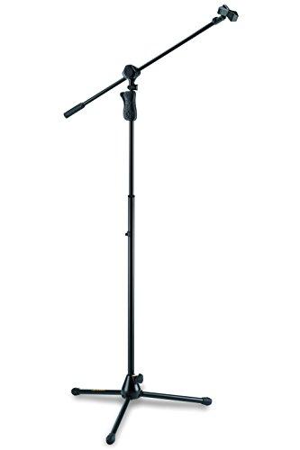 Hercules MS632B EZ Grip Tripod Microphone Stand w/ 2 in 1 Boom & Mic Clip