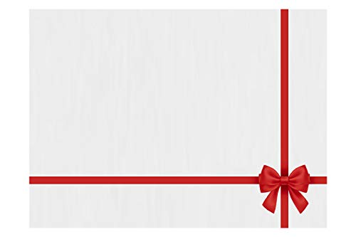 LUXPaper #17 Mini Envelopes - Small Envelopes for Gift Cards, Notes, Place Cards, Folded Notecards - 80lb White with Red Bow, Size: 2 11/16 x 3 11/16, 50 Pack - LEVC-BOW-50