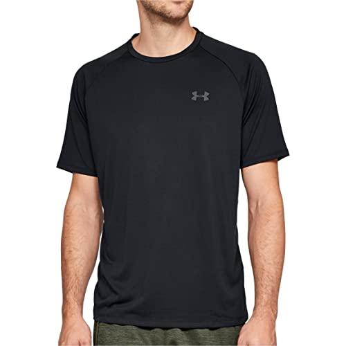 Under Armour Camiseta masculina de manga curta Tech 2.0, Preto (001)/Grafite, M