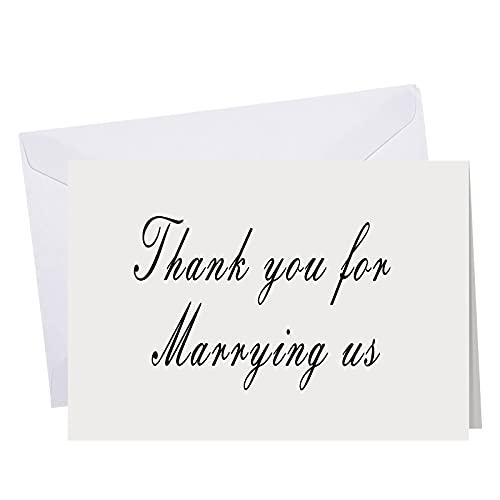 2 Pieces Wedding Thank You Card Wedding Day Card Thank You for...