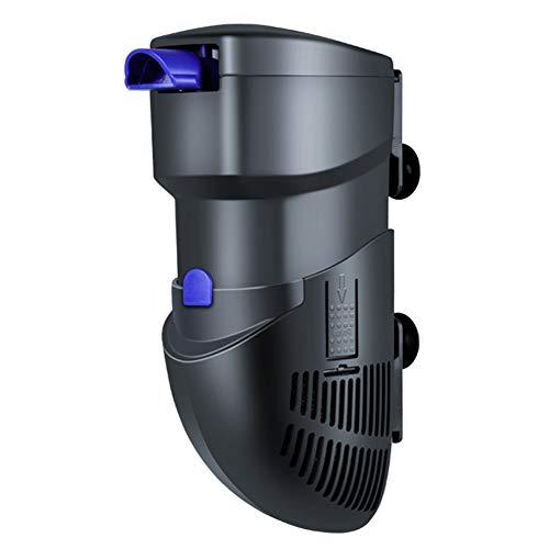 Jiasj Filtro Interno de Acuario con Caja de Medios de descomposición por ionización, Ultra silencioso Bomba de Agua Sumergible 400L / h para 50-100L Fish Tank