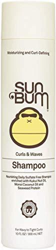 Sun Bum Curls & Waves Shampoo - Curly Hair Shampoo - Curl Defining - Shine Enhancing - Sulfate Free Shampoo - Paraben Free - 10 FL OZ Bottle - 1 Count