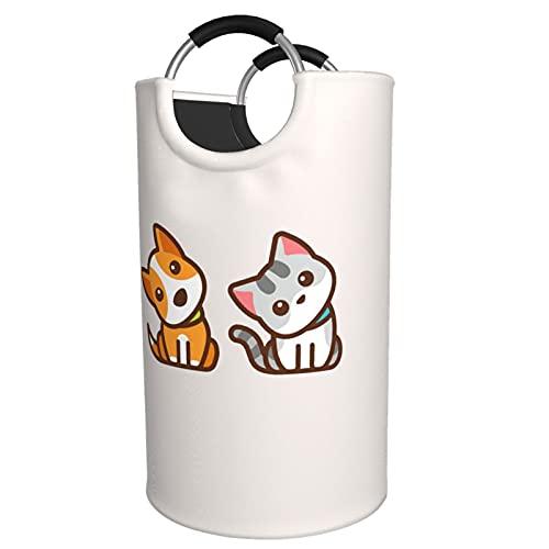 Sunmuchen Cesta de lavandería para perros y gatos, impermeable, grande, organizador para ropa, juguetes, dormitorio, baño, con asas de aluminio