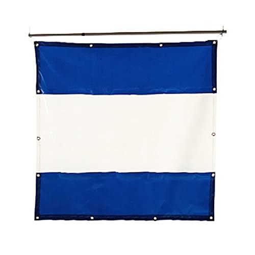 Lona Alquitranada Paneles Laterales de Carpa de Gazebo Azul, Cortina de Parabrisas de Refugio Al Aire Libre con PVC Transparente Ventanas para Cochera, Balcón, 1 M / 2 M / 3 M / 4 M / 5 M de Ancho