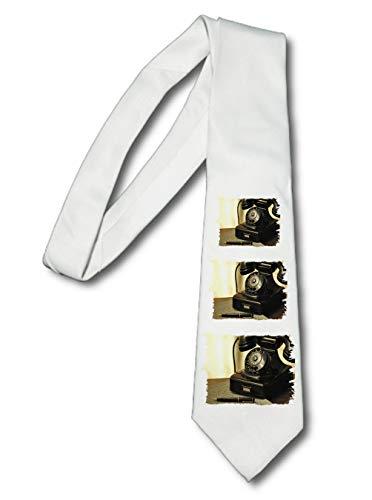 MERCHANDMANIA Corbata Elegante Vintage TELEFONO Retro Siglo 19 Suave Poliester