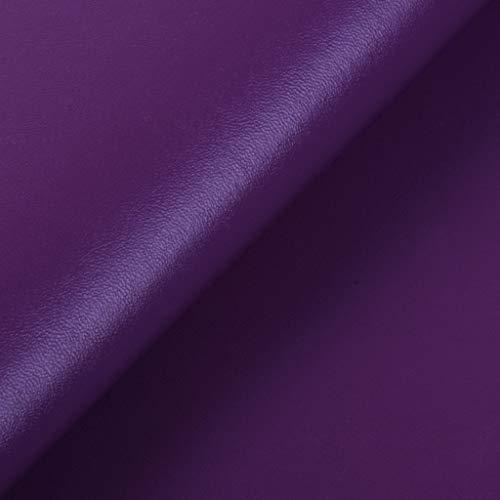 Tela De Cuero De Color Oscuro Textura De Napa 1mx1,4m De Piel Sintética Parche De Cuero Reparación De Muebles De Asiento De Silla De Sofá Sillas De Comedor Sofá Interiores Del Coch(Color:Violeta)