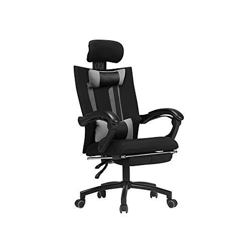 HOLPPO-Desk Silla de cubierta de malla de alta Volver giratoria de oficina silla del ocio silla multi-función de ajuste del apoyo for la cabeza cómodo respaldo de malla transpirable y Teniendo Peso 15