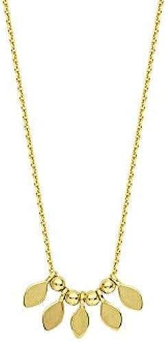 14  GelbGold 5  Tropfenform Element Center verstellbar Halskette 46cm