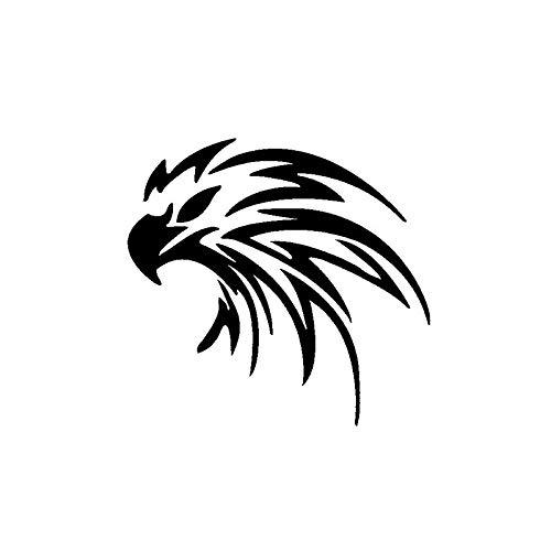 RSZHHL Sticker de Carro 15,5 CM * 14,8 CM Hawk Eagle Coche Cuerpo Ventana Pegatina Negro/Plata Vinilo calcomanía C11-1069
