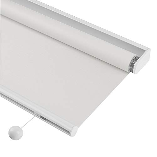 JIANFEI Roller Blinds, Home Kitchen Waterproof Sun Protection Curtain Roll Pull Automatic Lifting Sunshade 2 Colours, Customizable (Color : White, Size : 70cmx160cm)