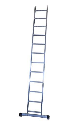 Escalera profesional de aluminio de apoyo simple con barra estabilizadora 12 peldaños serie basic