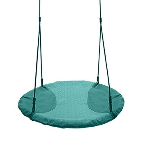 PIAOLING Balançoire pour Enfants Intérieur et extérieur Adultes Tissu Hamac Balançoire Nid d'oiseau Chaise de balançoire Double balançoire (Color : Green)