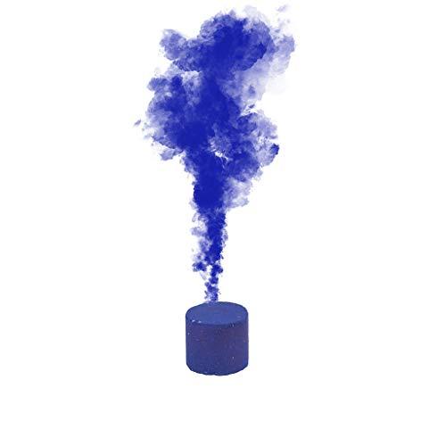 WARMWORD-Color Humo Pastel de Humo Efecto de Humo 6 Colores, Redondo, Accesorios de fotografía, Escenario de Cine, Fiesta, Efecto de Humo. (Azul, Contiene: 1X pastel de humo)