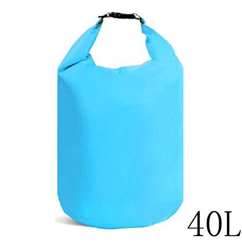 Bolsa seca de tela de poliéster resistente al agua con correa ajustable para el hombro #N/A, color azul, tamaño Medium, 40L