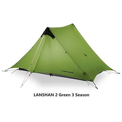 SMEI 2 Flame Es Creed 2 Person Oudoor Ultralight Camping Zelt 3 Season Professional 15d Silnylon Rodless Zelt 15D Green 2 Personen