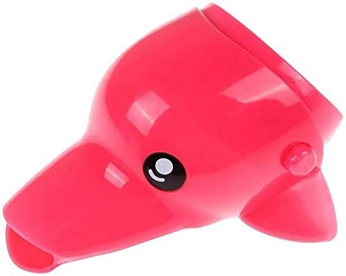 MLFPDXC-Extensor de grifo lindo animal pato elefante agua en forma de delfín mini extensión de grifo extensor de grifo baño de lavado de manos para niños (color: C) -C