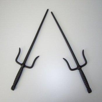 S.B.J - Sportland Kunststoff Sai Gabeln (2 Stück), Länge ca. 49,5 cm