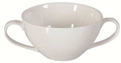 Dajar Porto Tasse à Soupe 350 ML, Porcelaine, Blanc, 11 cm