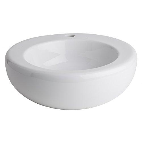 Vasque à Poser en Bol et céramique Blanche