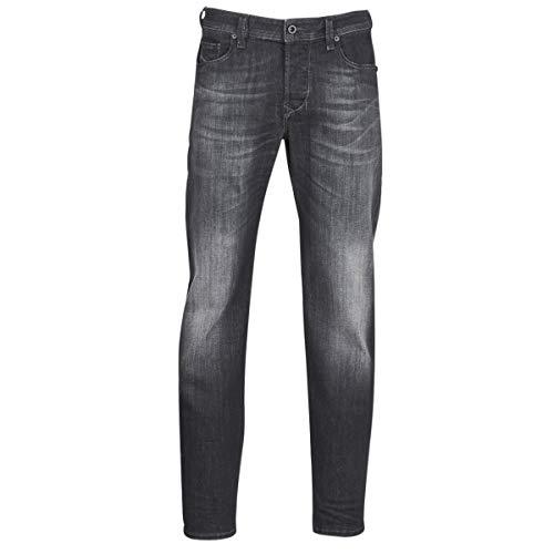 Diesel Larkee-BEEX L.32 Pantaloni Jeans Tapered, Nero (Black/Denim 02), 33W x 32L Uomo