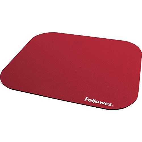 Fellowes Einfarbig Polyester-Oberfläche rechteckig Mauspad rot