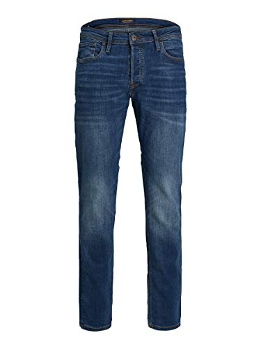 JACK & JONES Male Slim/Straight Fit Jeans Tim ORIGINAL AM 782 50SPS 3432Blue Denim