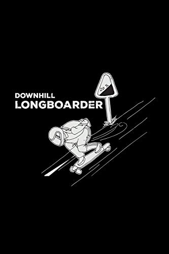 Downhill longboarder: 6x9 Longboard | dotgrid | dot grid paper | notebook | notes