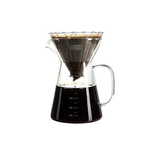 Hogar simple portátil mano café Pot Set transparente resistente al calor de alta temperatura filtro taza compartir olla adecuado para oficina hogar camping café con sc JoinBuy.R