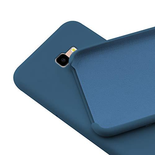 N NEWTOP Custodia Cover Compatibile per Samsung Galaxy J4 Plus, Ori Case Guscio TPU Silicone Semi Rigido Colori Microfibra Interna Morbida (Blu)