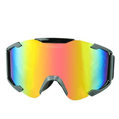 LINDANIG Outdoor Cross-Country Motorradbrillen Radfahren Schutzbrillen Bergsteigen Spiegel Blenden Farbe Stück Schutzbrillen (Size : A001)